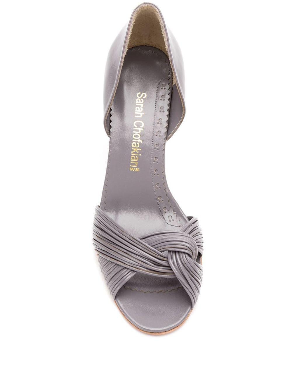 Zapatos de tacón Sarah Chofakian de Cuero de color Rosa