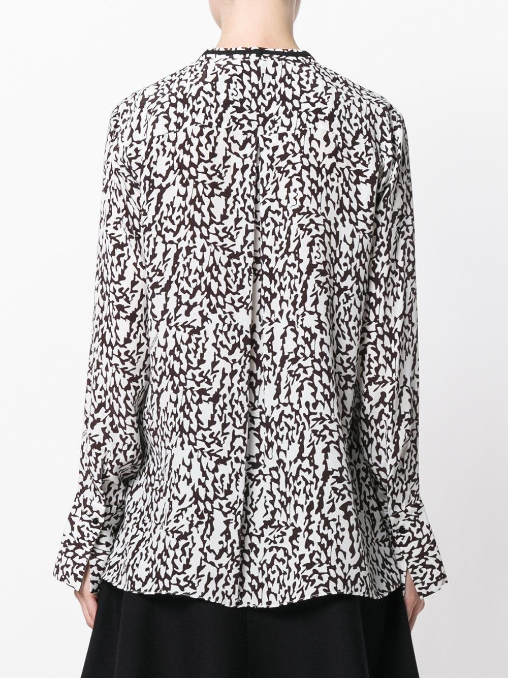lyst dorothee schumacher patterned blouse in white. Black Bedroom Furniture Sets. Home Design Ideas