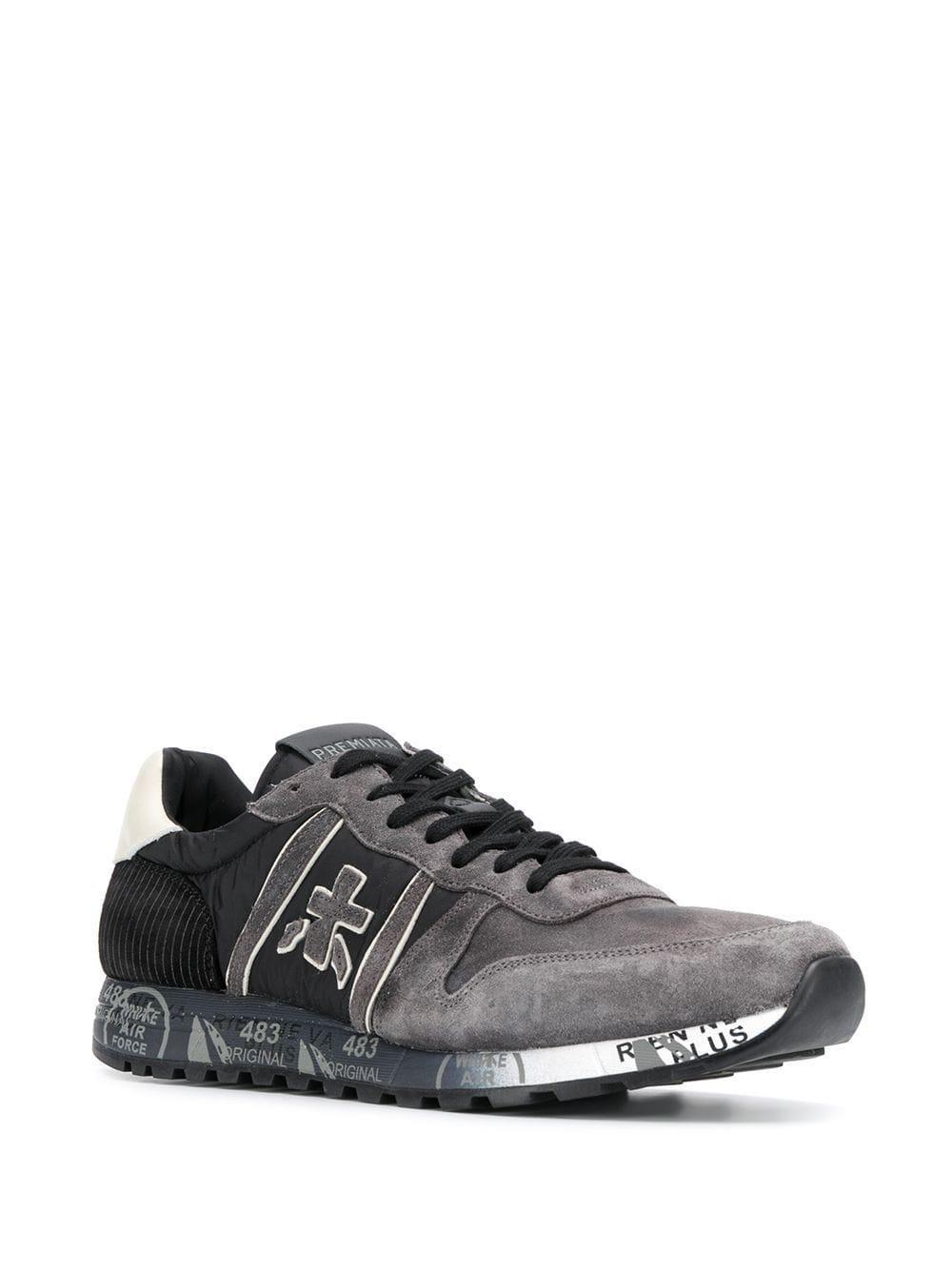 Premiata Leer Eric Sneakers in het Grijs voor heren
