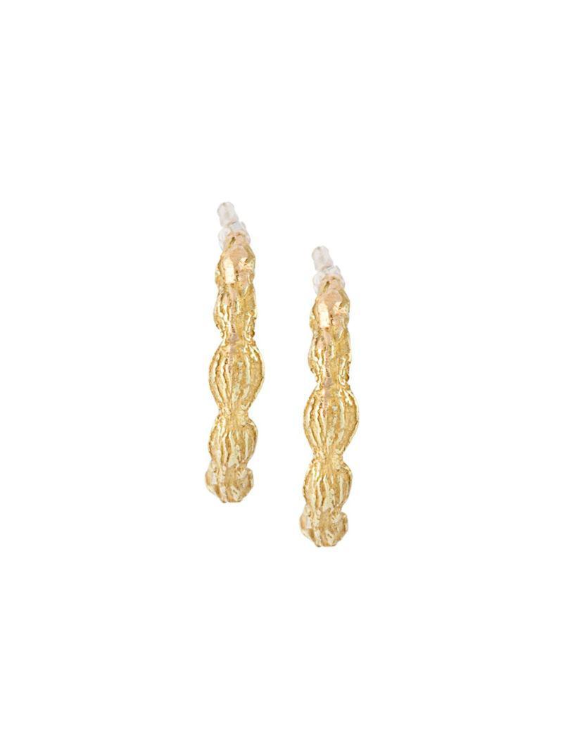 Wouters & Hendrix 18kt yellow gold sculpted hoop earrings - Metallic zs7VOGwAKY