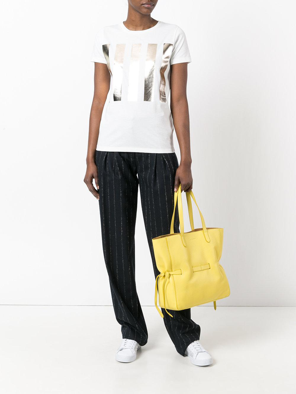 Jil Sander Leather Bucket Tote Bag in Yellow & Orange (Yellow)