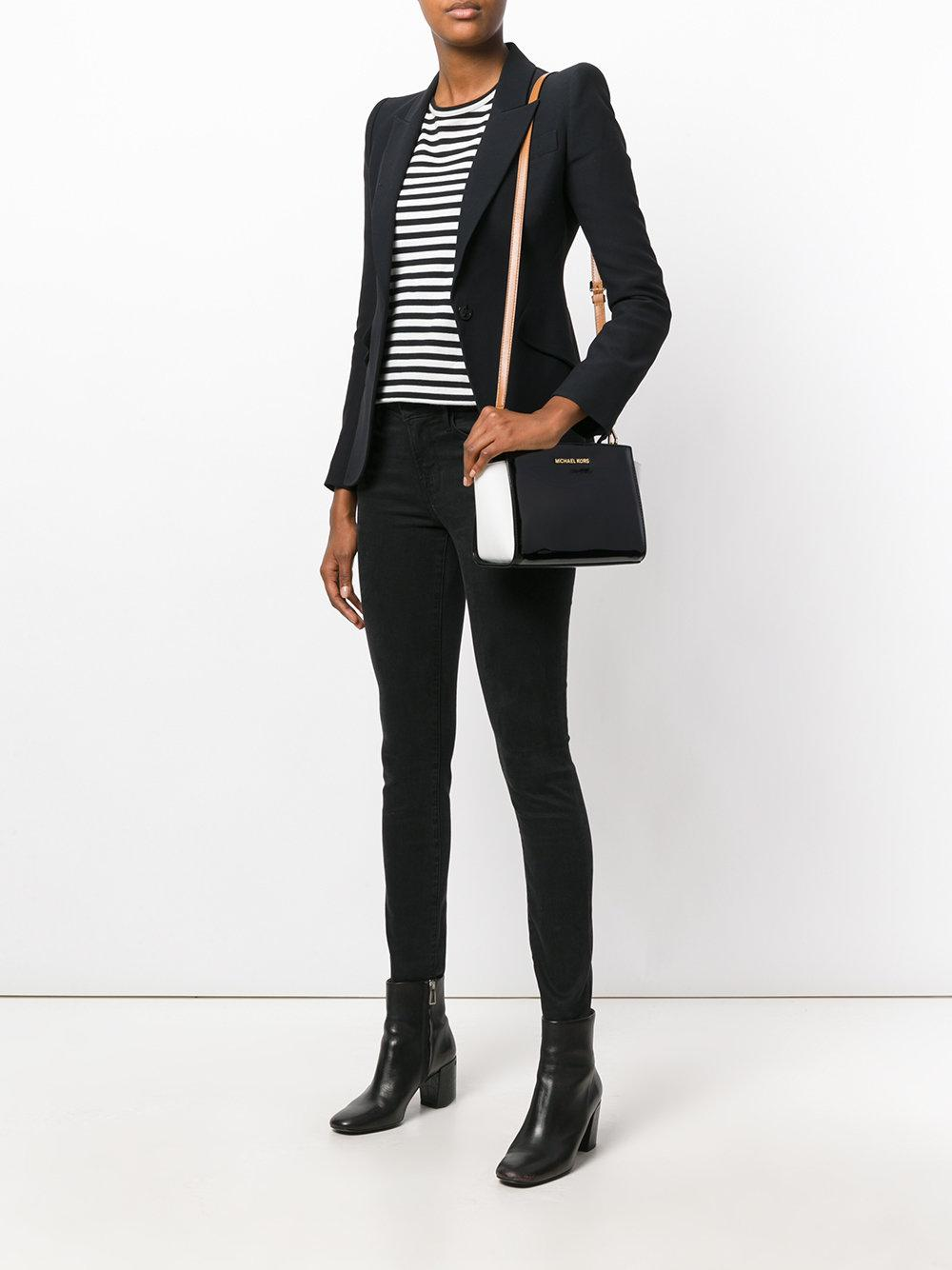 MICHAEL Michael Kors Leather Zipped Crossbody Bag in Black