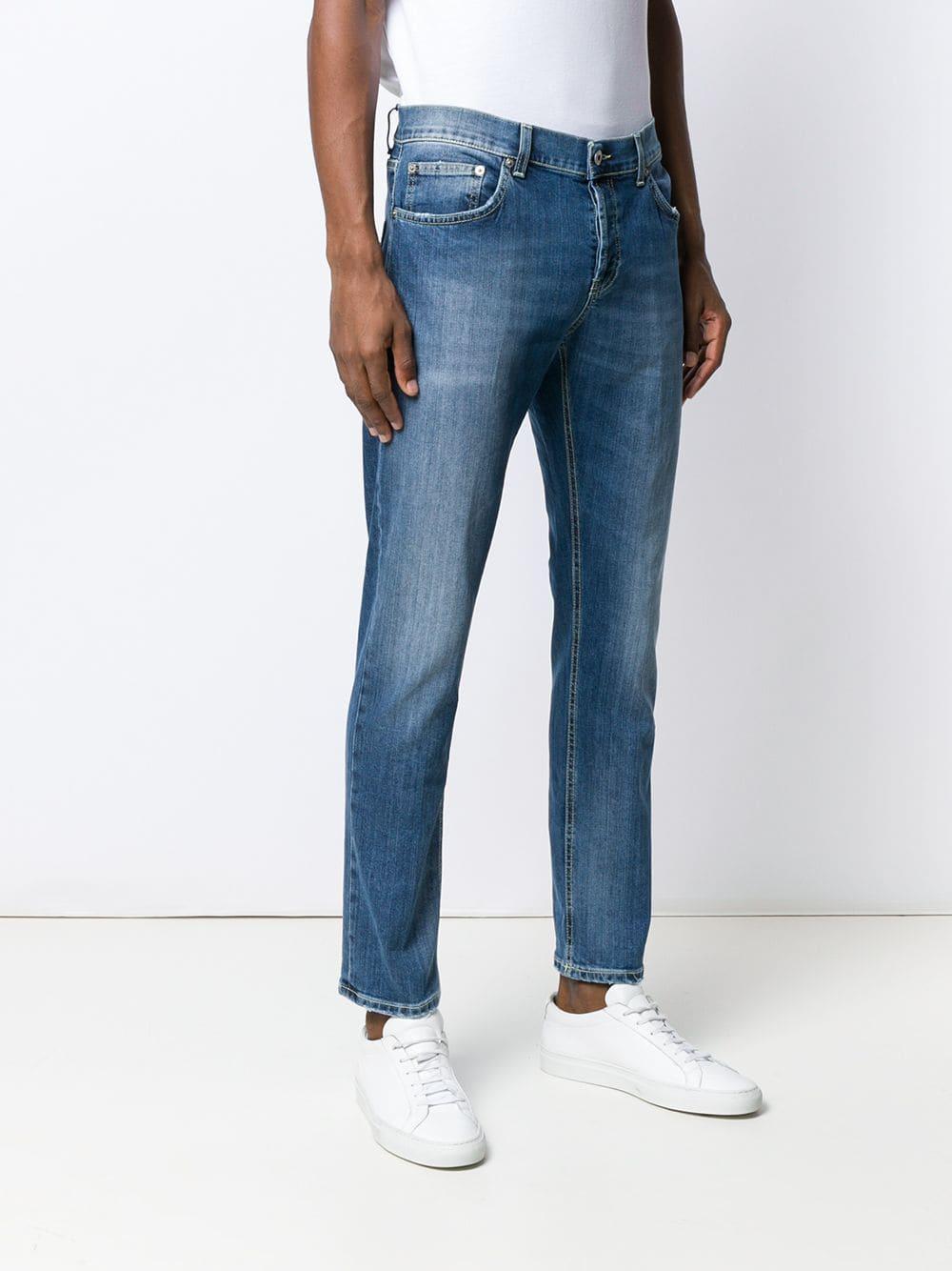 Dondup Denim Jeans Met Stonewashed-effect in het Blauw voor heren