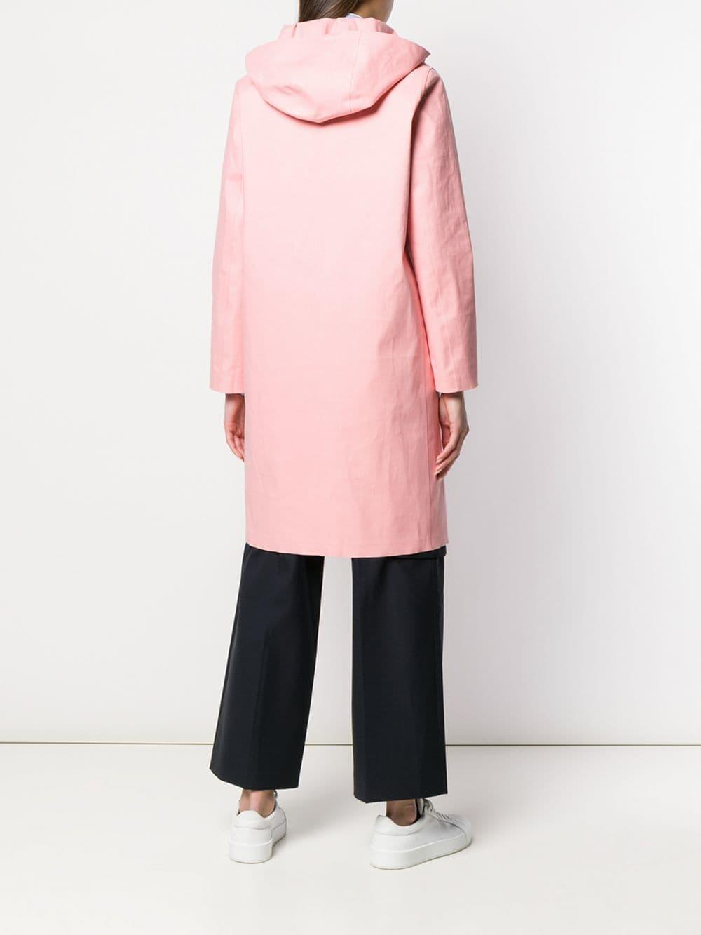 Gabardina con capucha Mackintosh de Algodón de color Rosa