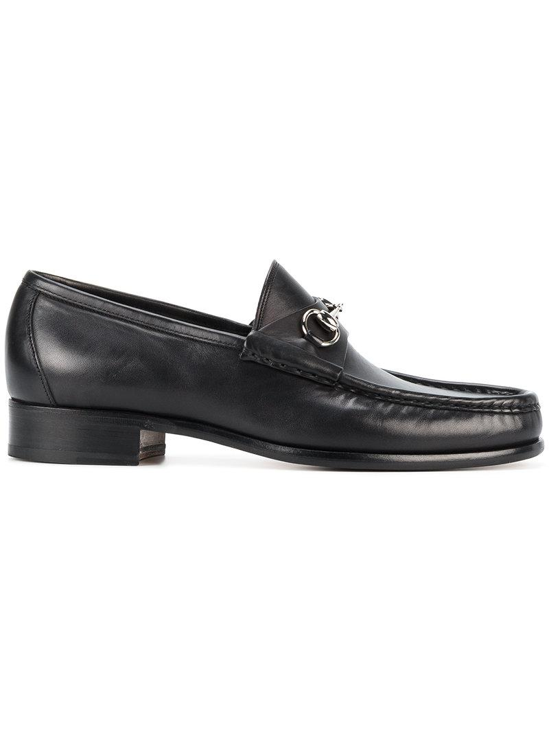 Gucci Leather Horsebit Loafers In Black For Men Lyst