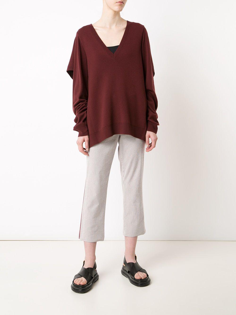 Sies Marjan Wool Cape Detail Jumper in Red