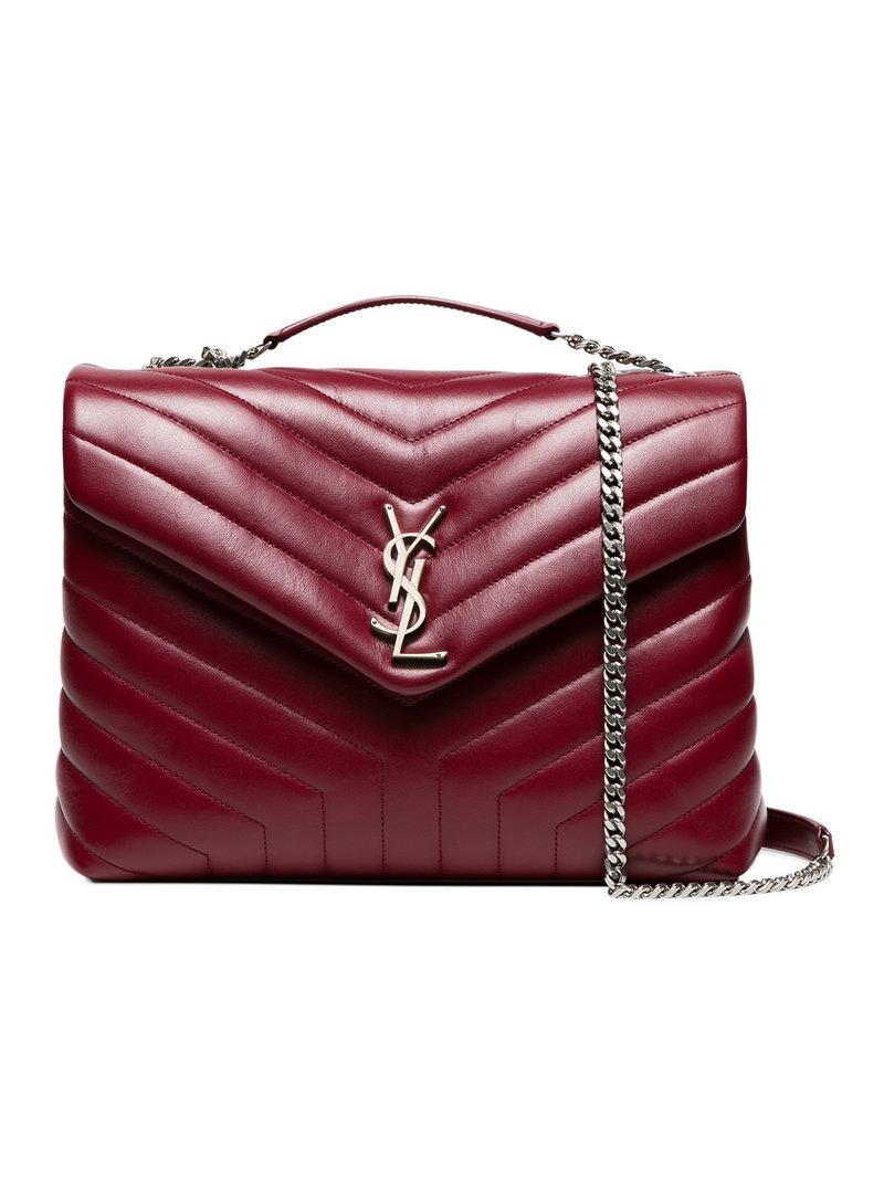 Saint Laurent Red Loulou Shoulder Bag in Red - Lyst 4c6a1134ffd18