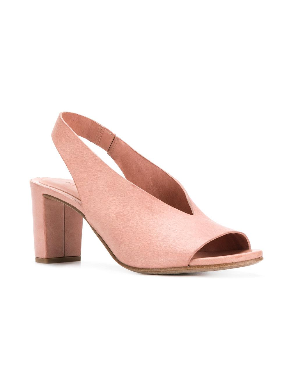 sling back block heel sandals - Pink & Purple Del Carlo 6zLt1
