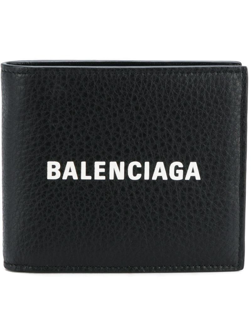 e110b0e446956 Balenciaga Portemonnaie mit Logo in Schwarz für Herren - Lyst