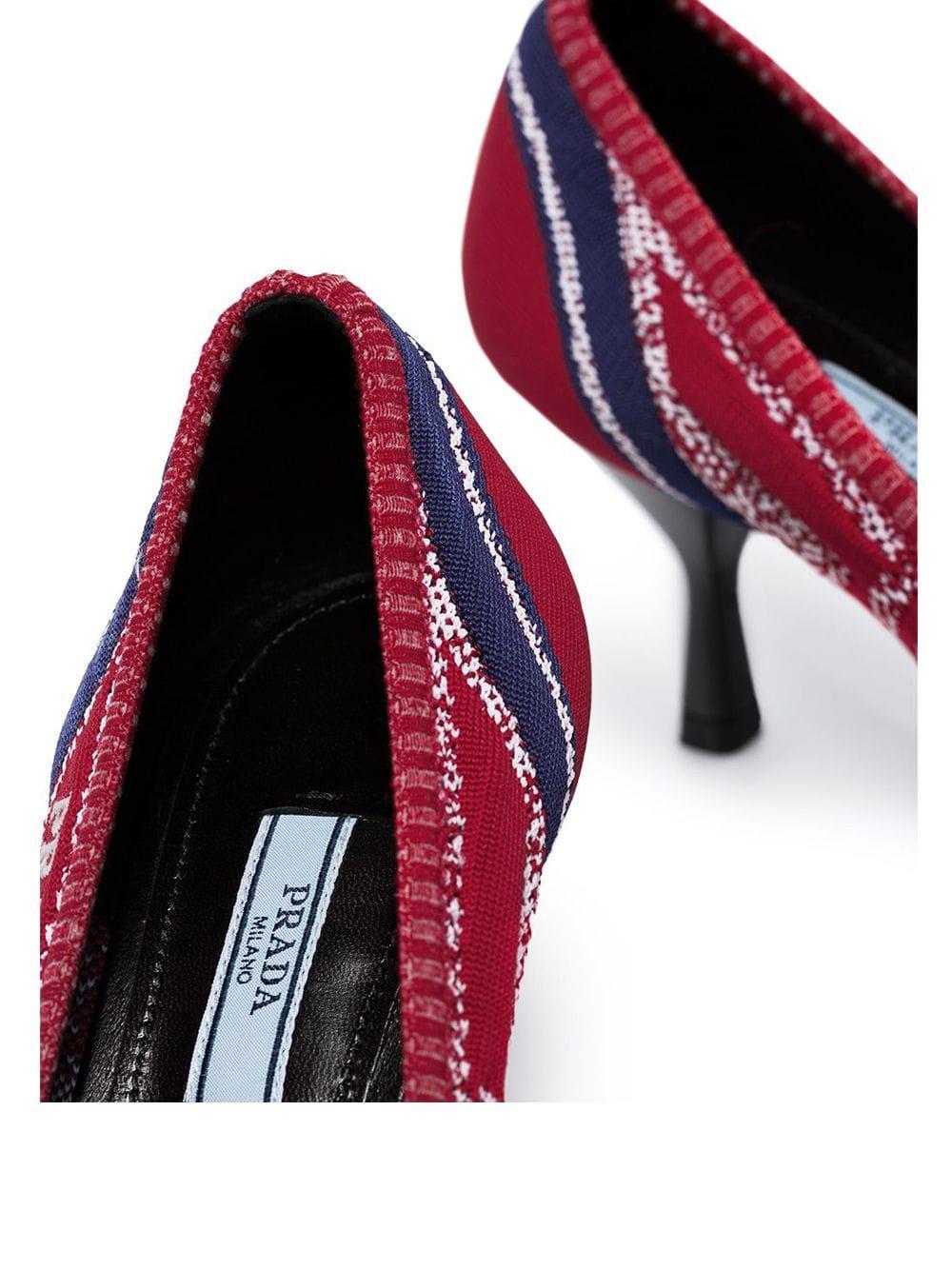 Zapatos de Tacón de Salón Prada de Cuero de color Rojo