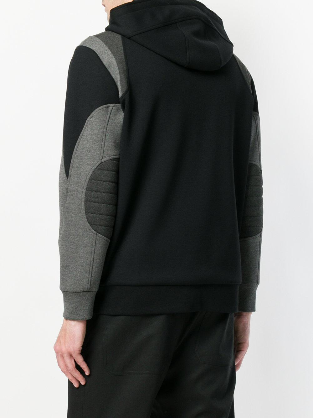 Neil Barrett Cotton Hooded Style Jacket in Black for Men