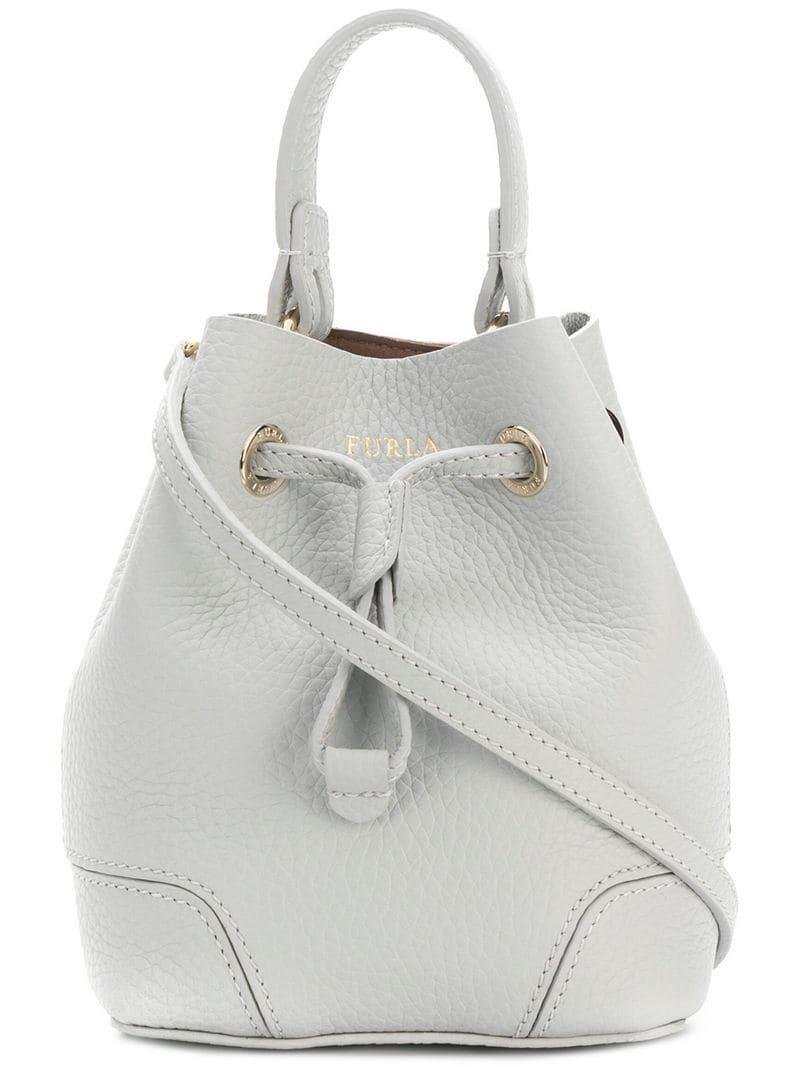 Lyst - Furla Mini Stacy Bucket Bag in Gray a1433aed370e6