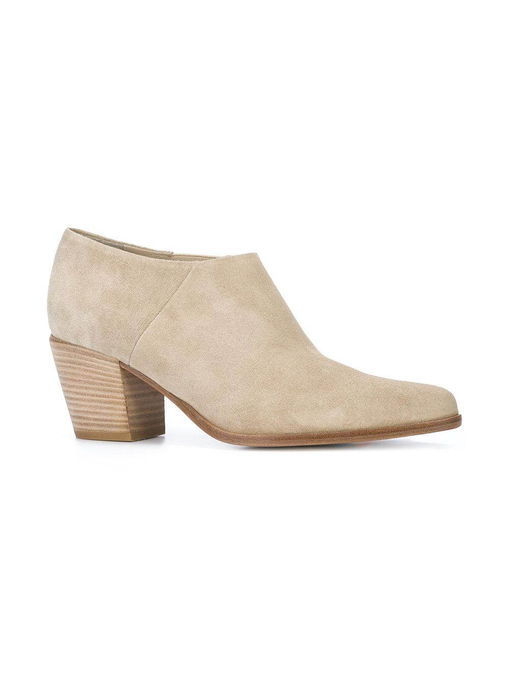 Vince Leather Ankle Boots in Brown