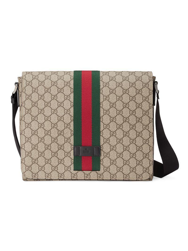 7dd845fada2 Gucci GG Supreme Messenger Bag for Men - Save 13% - Lyst