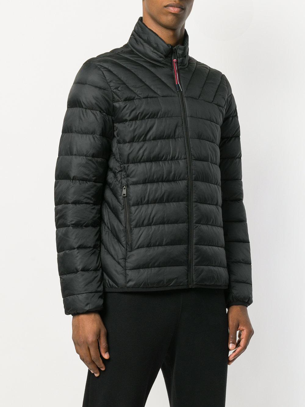 Napapijri Synthetic Padded Band Collar Jacket in Black for Men