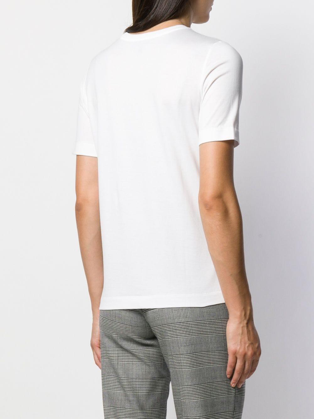 Camiseta con detalles de cristal ESCADA de Algodón de color Blanco