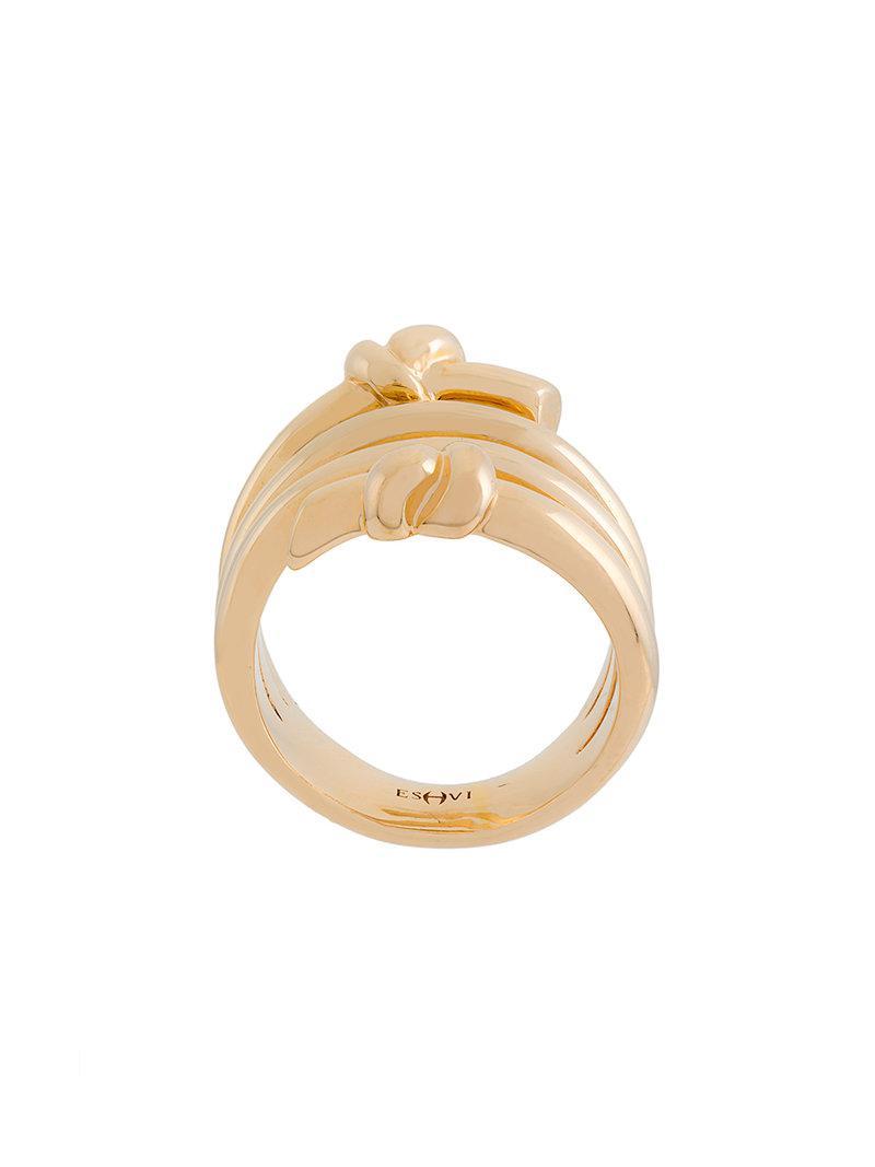 crossed ring - Metallic Eshvi HAcDWS7AB