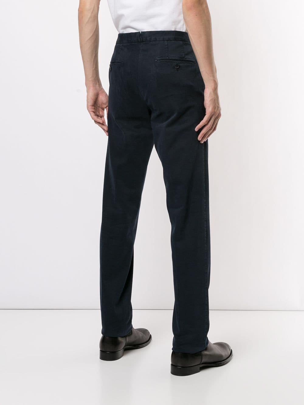 Corneliani Synthetisch Slim-fit Chino in het Blauw voor heren