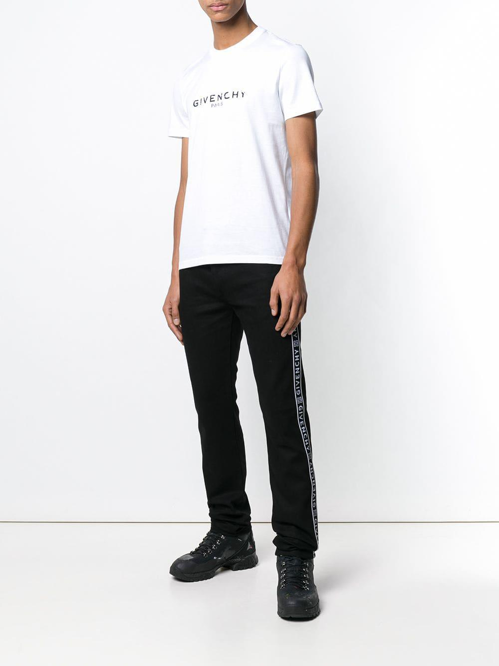 9b84554a36f2 Givenchy - Black Logo Band Jeans for Men - Lyst. View fullscreen