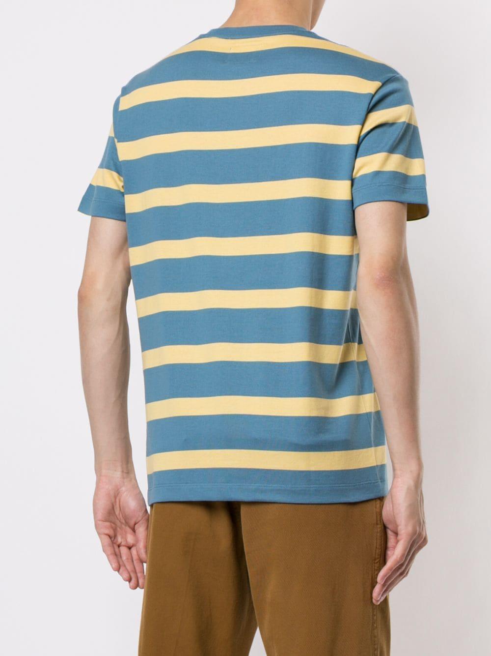 Kent & Curwen Katoen Striped T-shirt in het Blauw voor heren