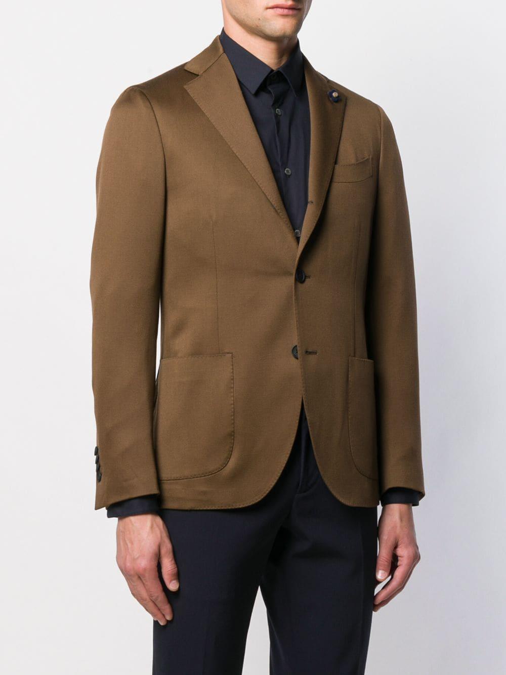Lardini Wol Klassieke Blazer in het Bruin voor heren