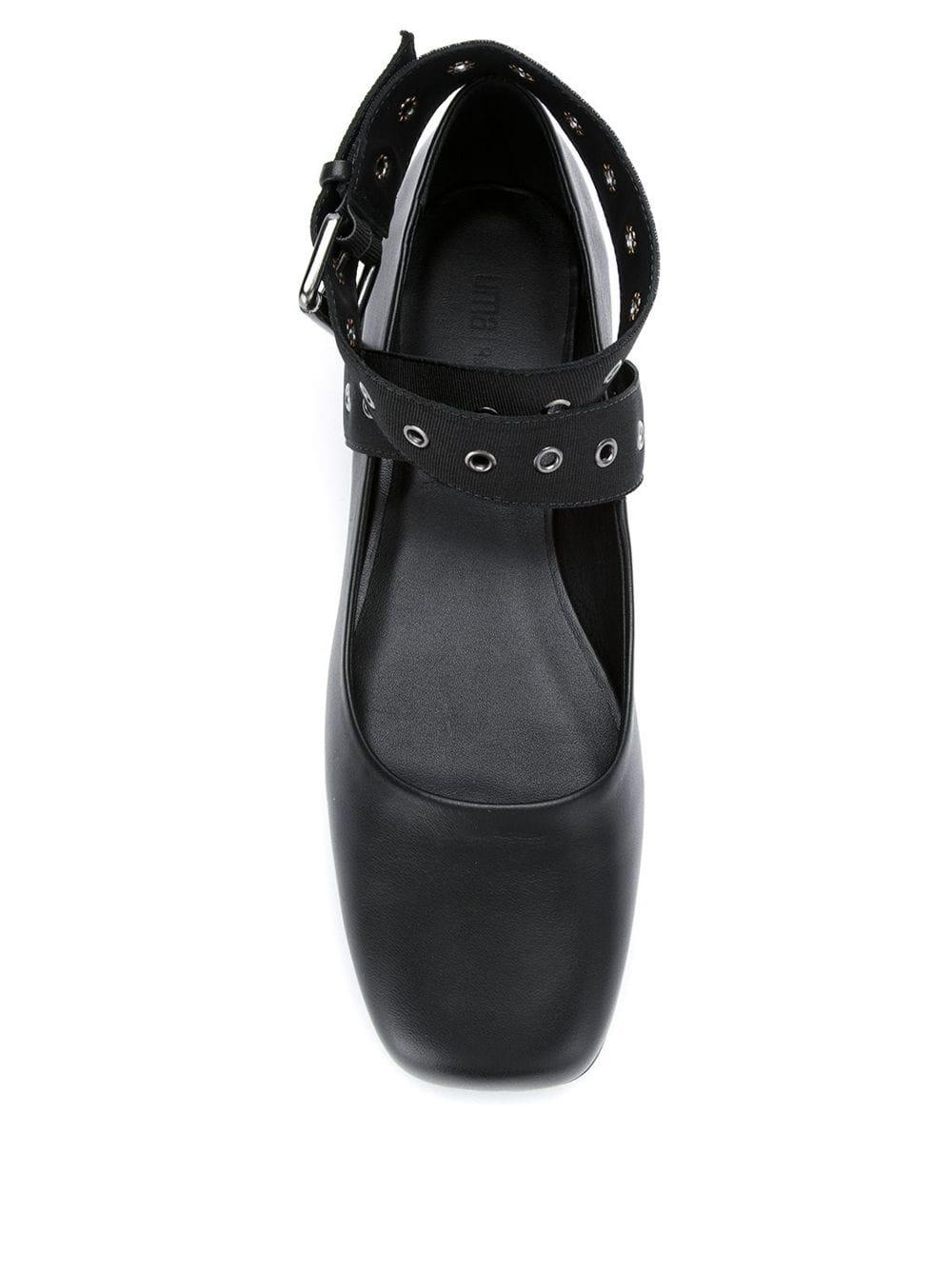 Leather Acaju ballerinas UMA | Raquel Davidowicz en coloris Noir