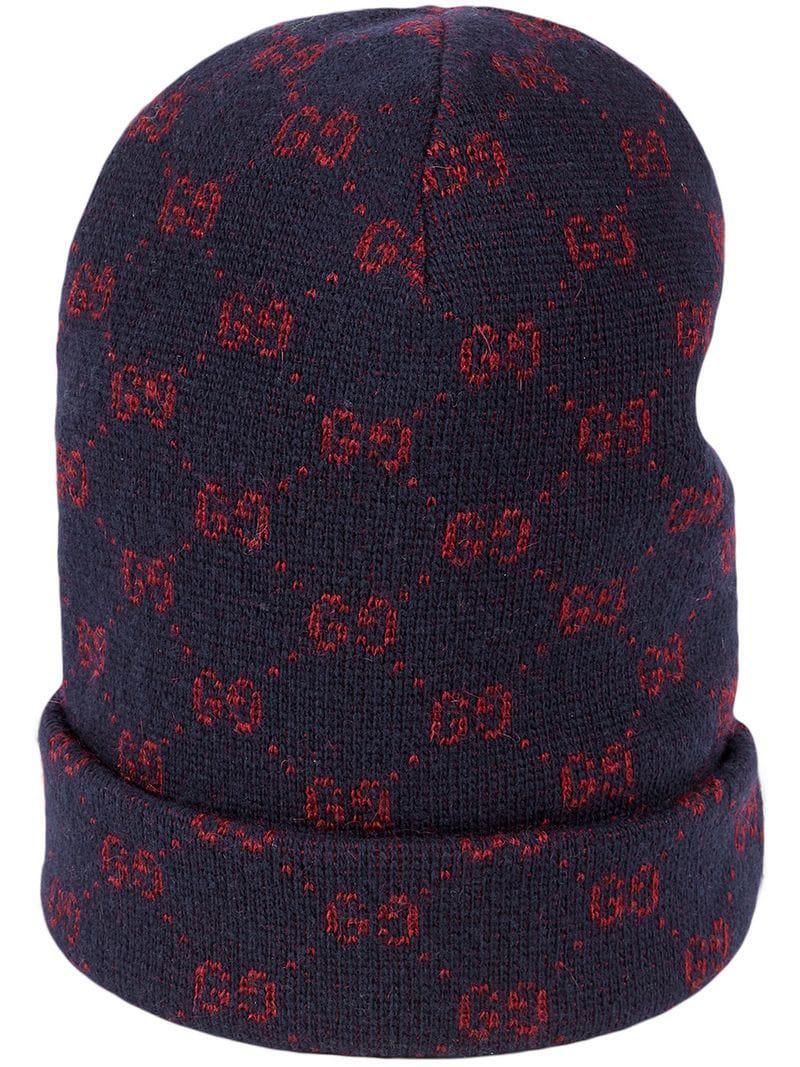 94de5cb06f855 Gucci GG Alpaca Wool Hat in Blue for Men - Lyst