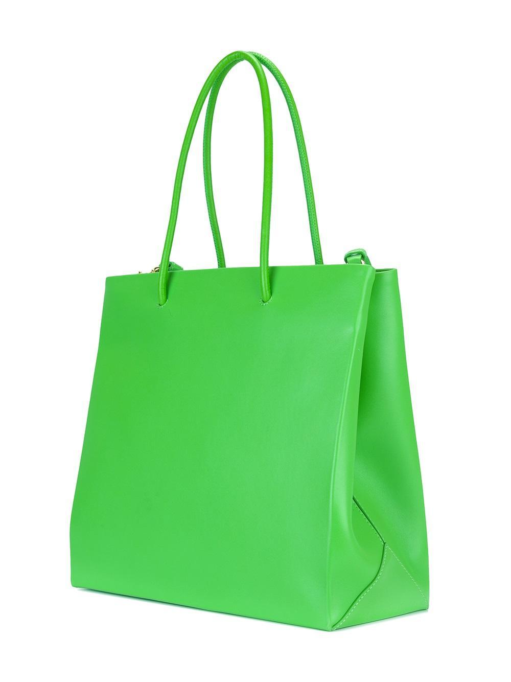Moschino Leather Jewelled Elephant Tote in Green