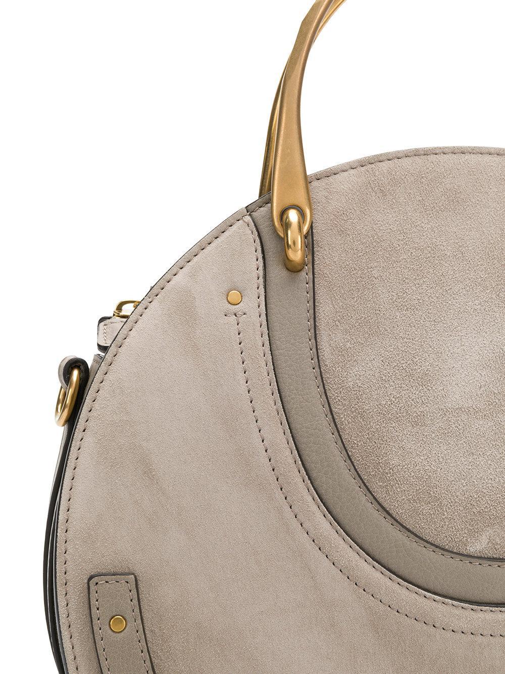 Chloé Suede Pixie Tote Bag in Grey (Grey)