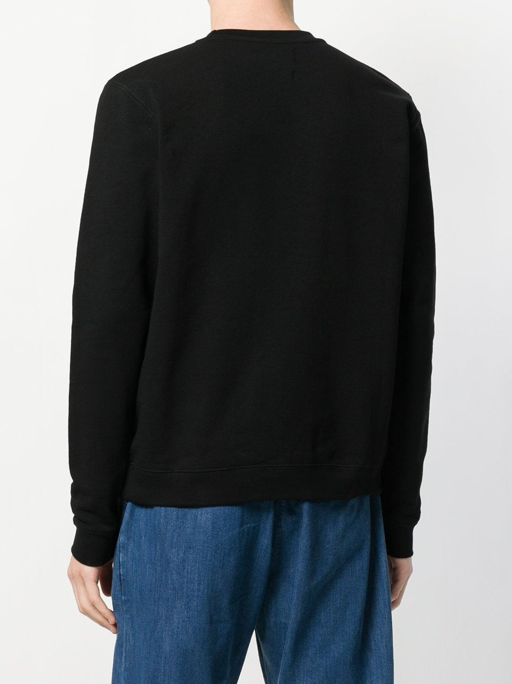 The Silted Company Cotton Slogan Sweatshirt in Black for Men