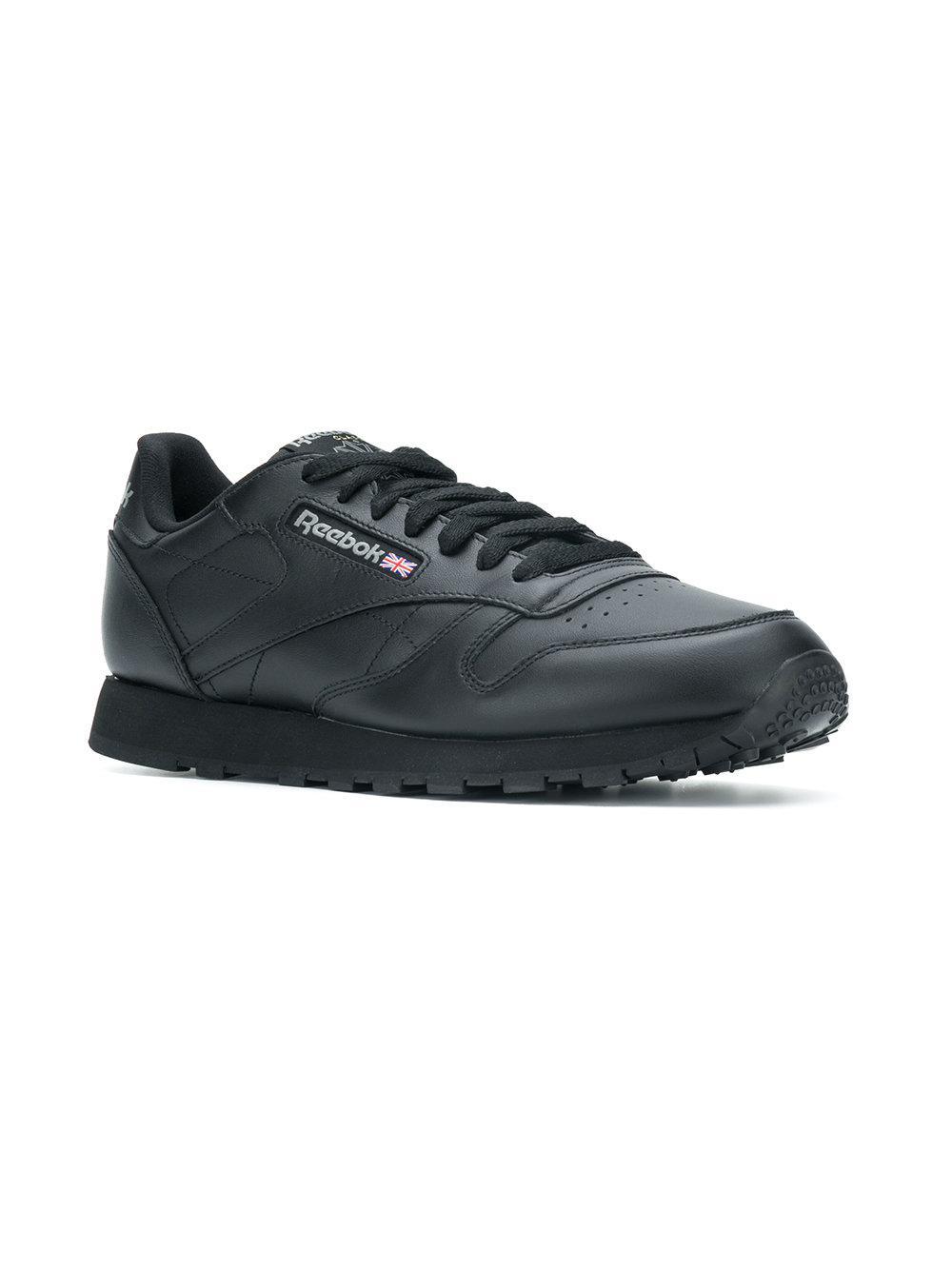 Reebok Cotton Low Top Sneakers in Black for Men