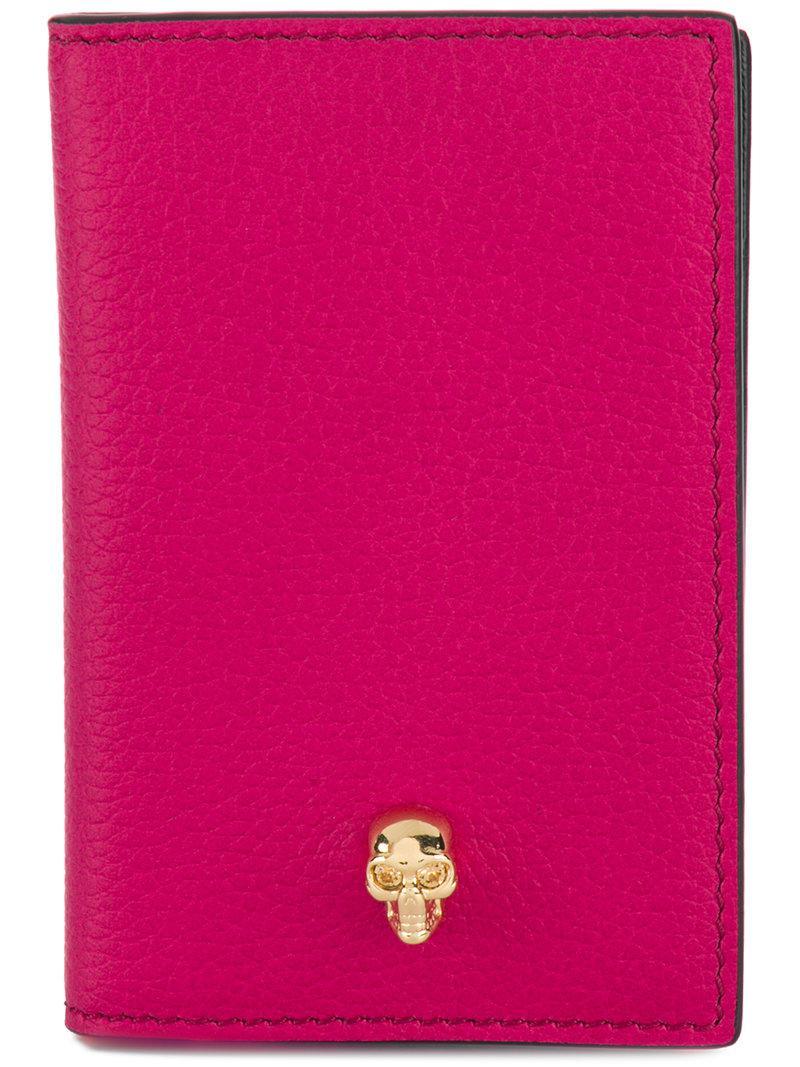 skull pocket organiser - Pink & Purple Alexander McQueen hgqbl