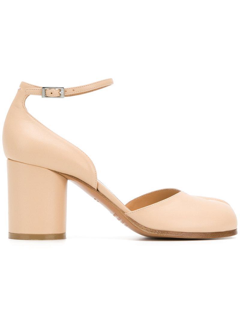 8e392ca393d2 Lyst - Maison Margiela Tabi Heeled Sandals in Natural