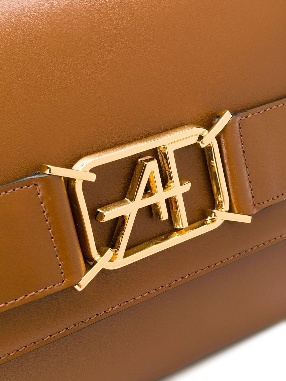 Alberta Ferretti Leder Mini Handtasche in Braun p7gFN
