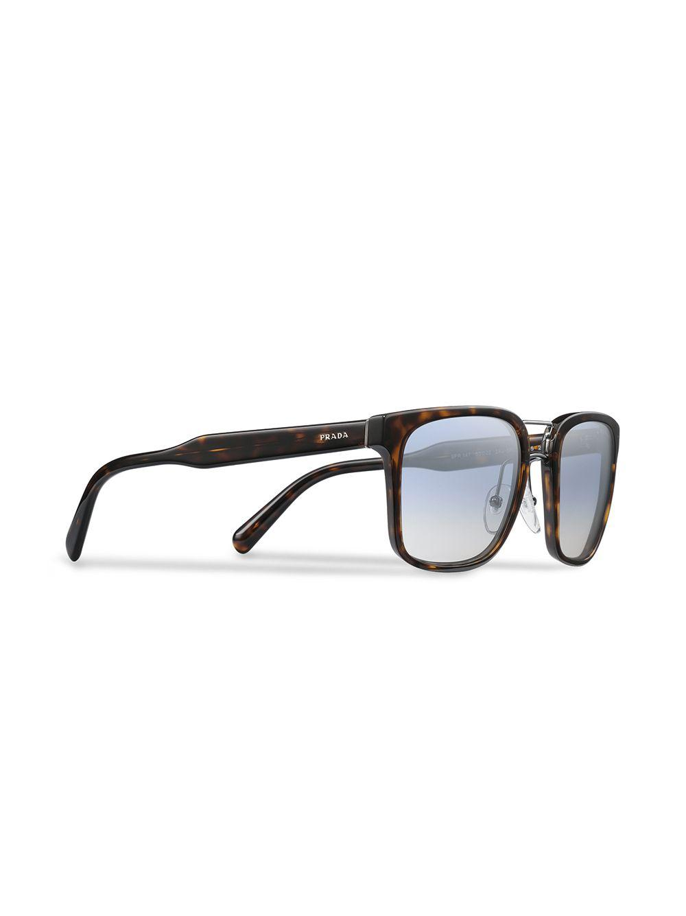 Prada Square-frame Sunglasses in Blue for Men