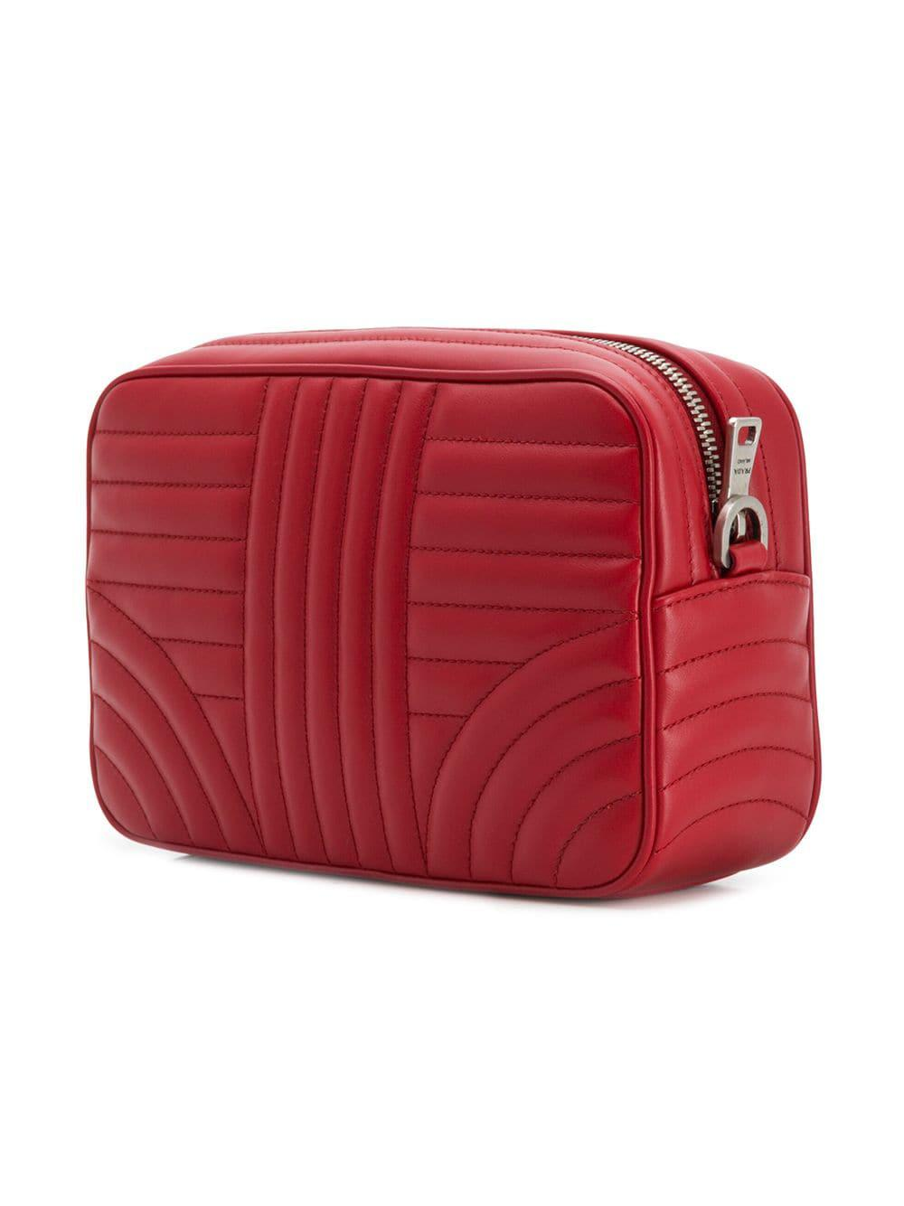 8e77901e3c94 Prada - Red Quilted-effect Shoulder Bag - Lyst. View fullscreen
