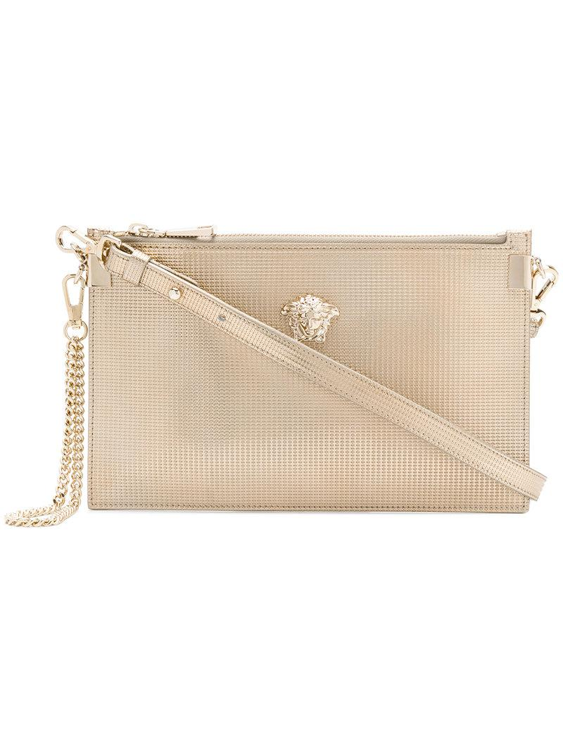 15bdbef21f Versace Diamante Medusa Clutch Bag in Metallic - Lyst