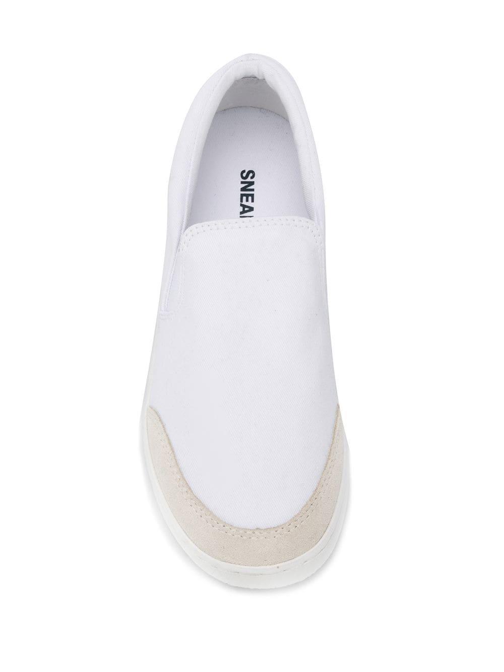 Zapatillas slip-on A.P.C. de Lona de color Blanco