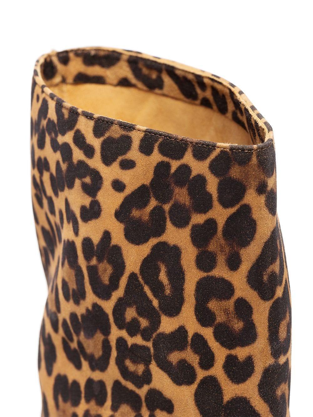 Botas Very Boogie 60mm con motivo de leopardo Aquazzura de Ante de color Marrón