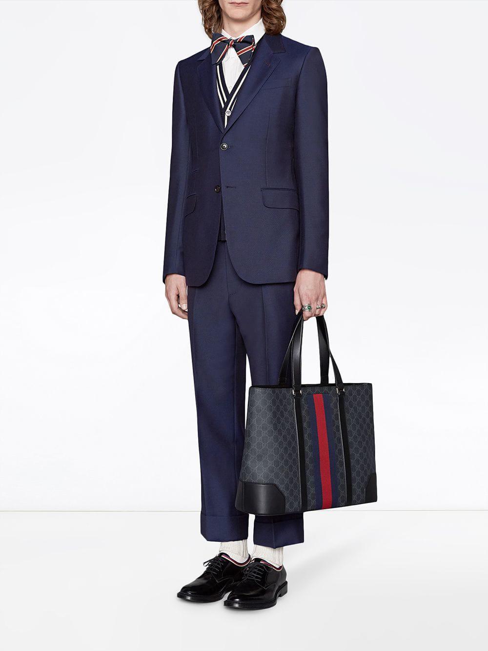 7f93a2f4f0e12e Gucci GG Supreme Tote in Black for Men - Save 12% - Lyst