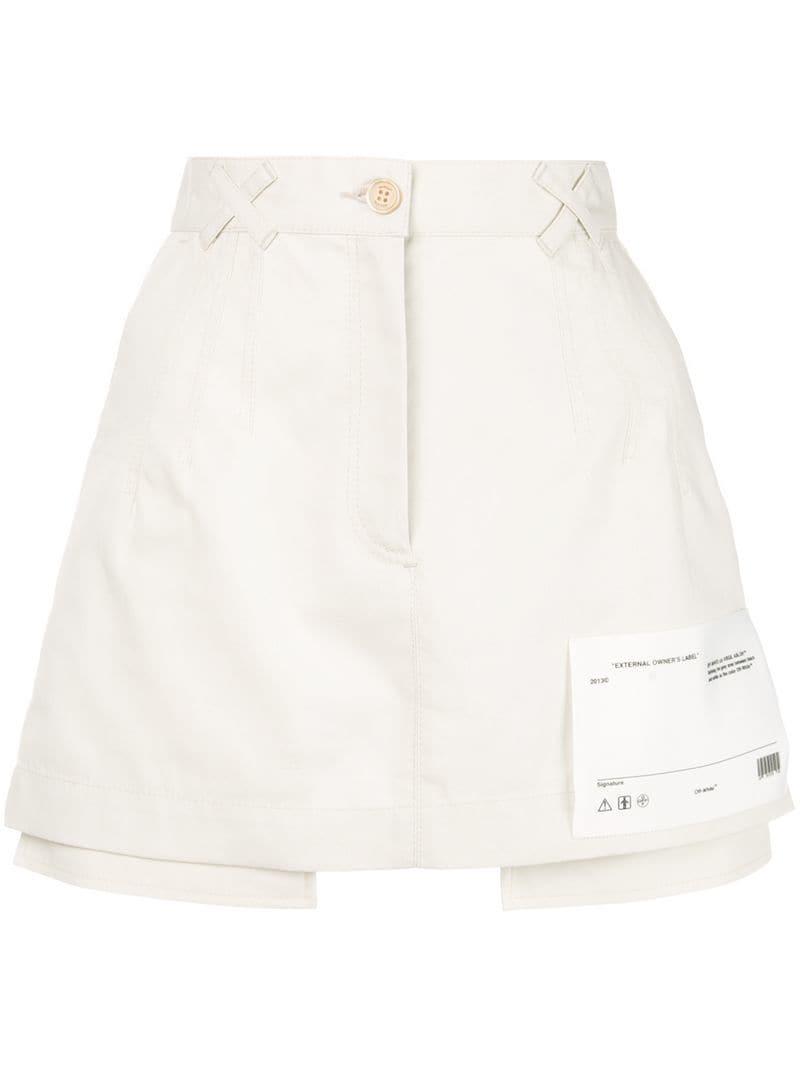 af80de8ce4 Off-White c/o Virgil Abloh Pocket Hem Mini Skirt in Black - Lyst