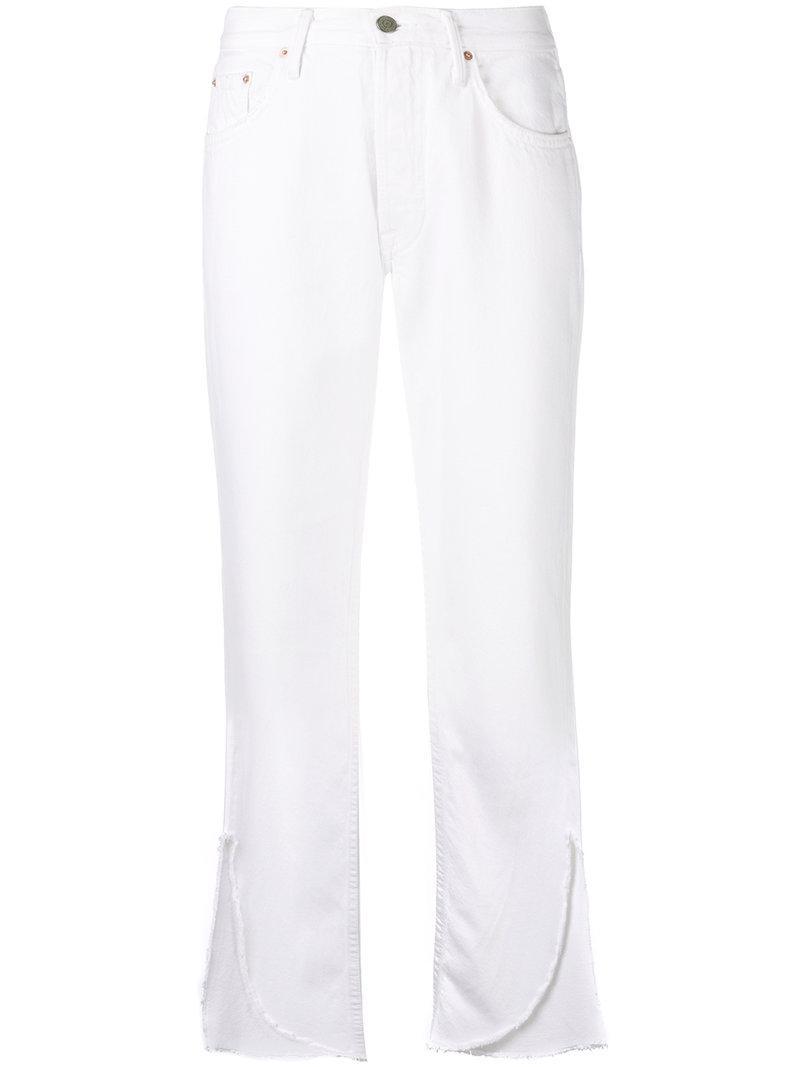 asymmetric cuff jeans - White GRLFRND ILYdgCym7t
