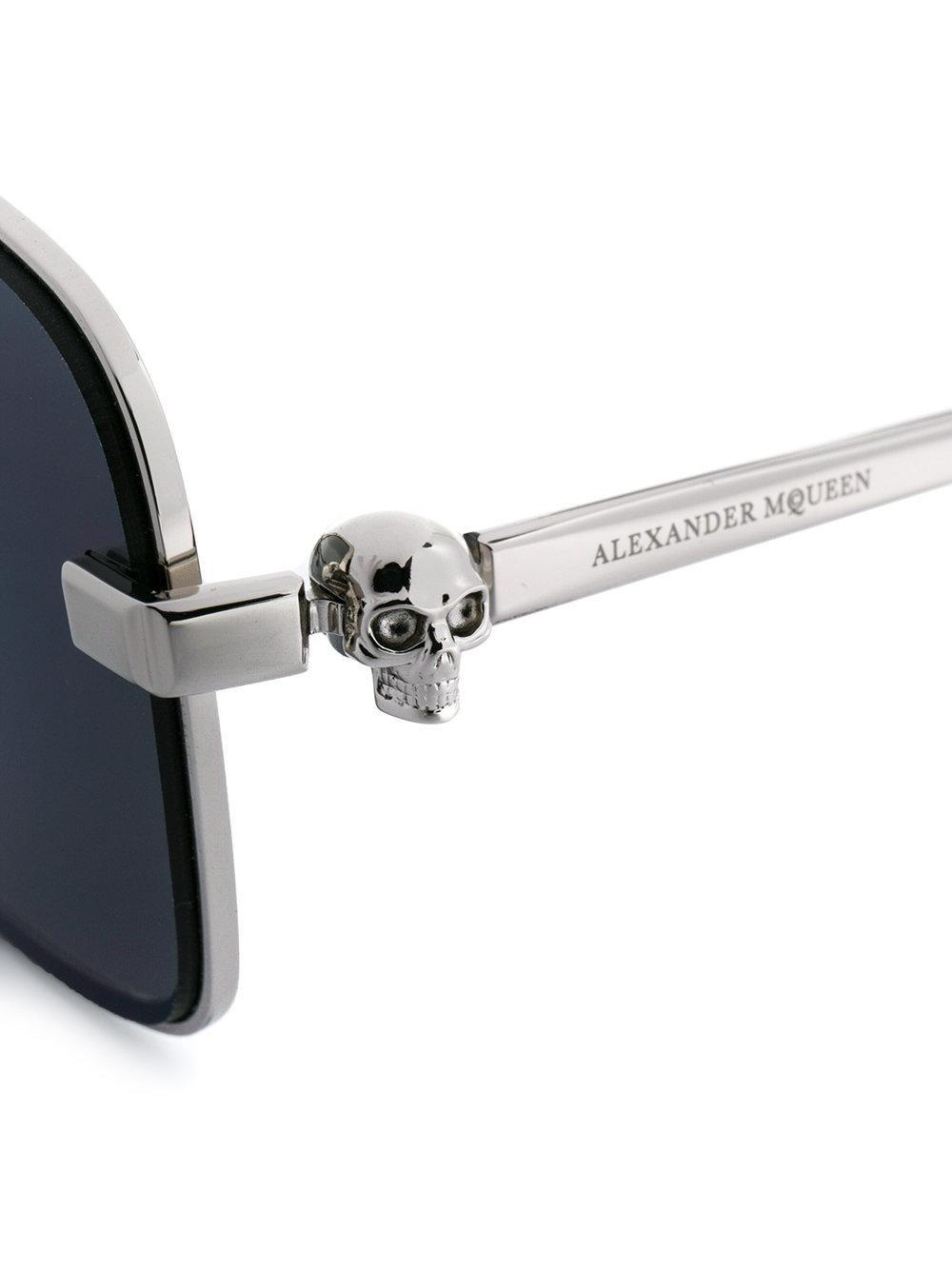 Alexander McQueen Square Sunglasses in Metallic