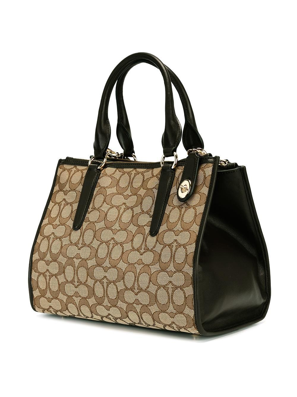 COACH Cotton Monogram Tote