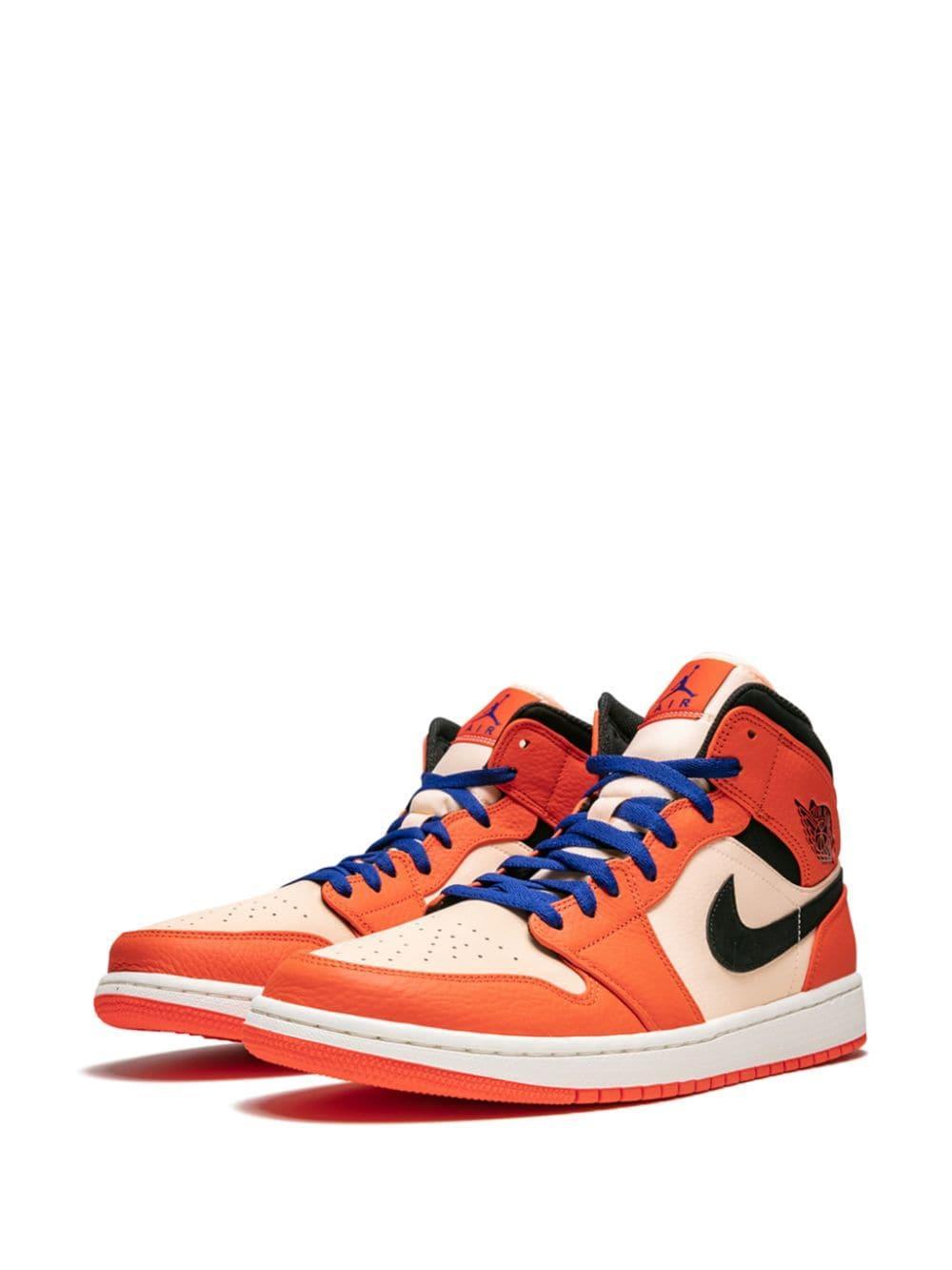 Zapatillas Air 1 Mid SE Nike de Cuero de color Naranja para hombre