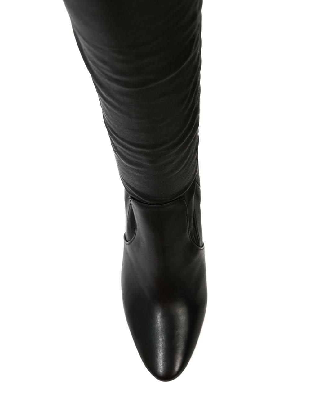 Tamara Mellon Leather legging Boot Combo in Black