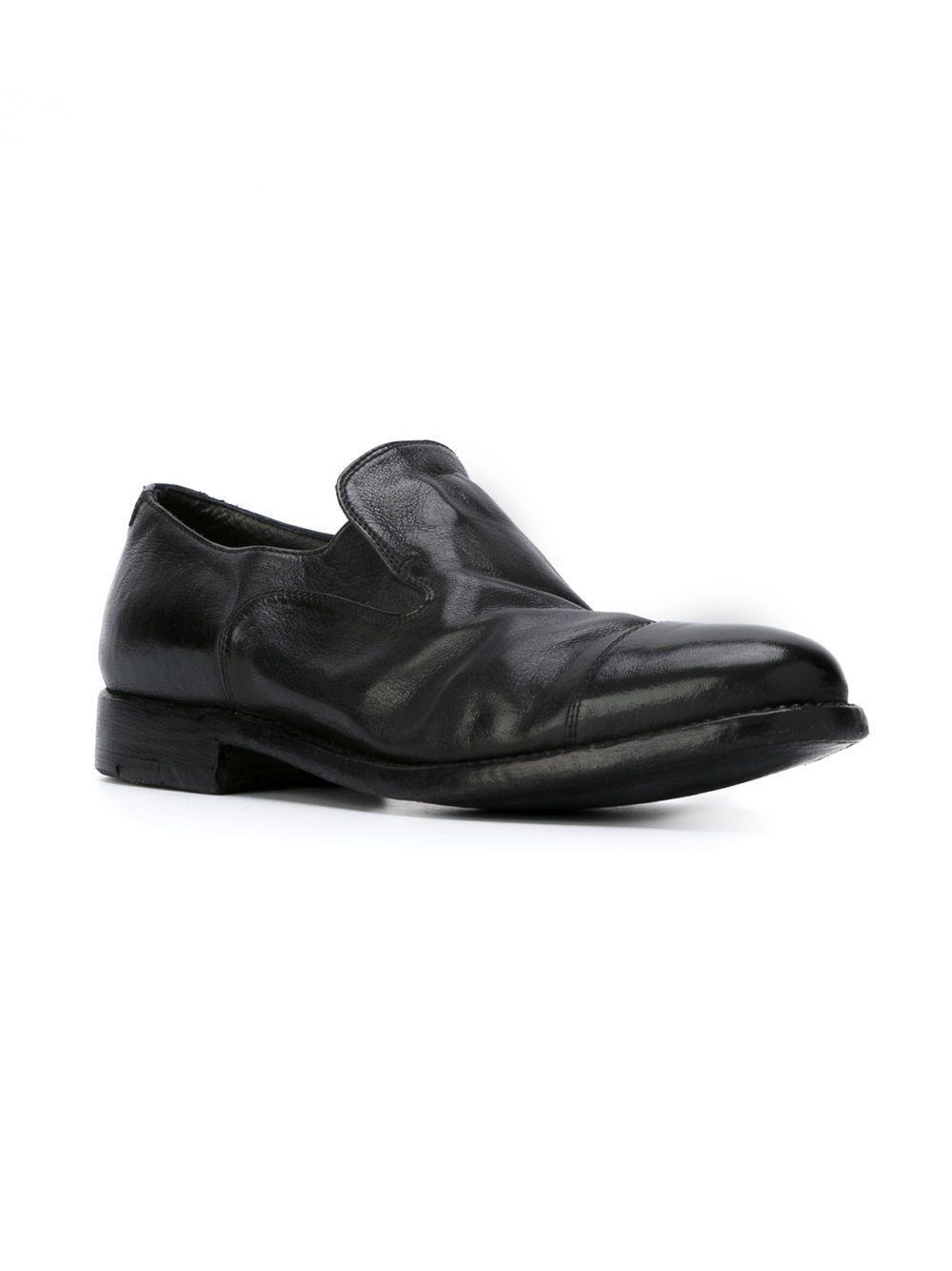 Alberto Fasciani Leather 'queen' Slippers in Black for Men