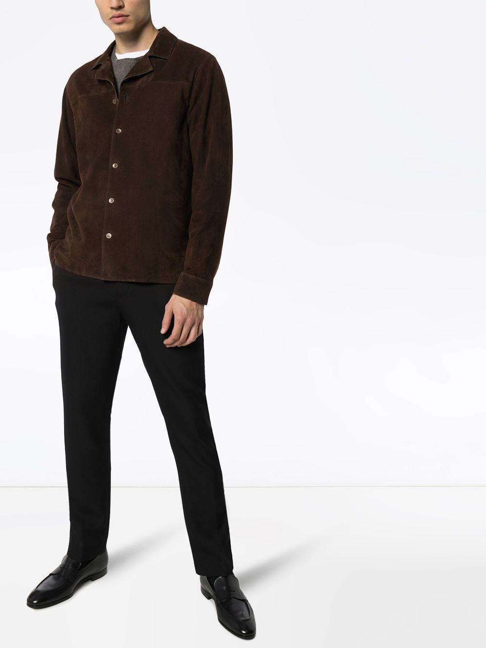 AJMONE Overhemd in het Bruin voor heren