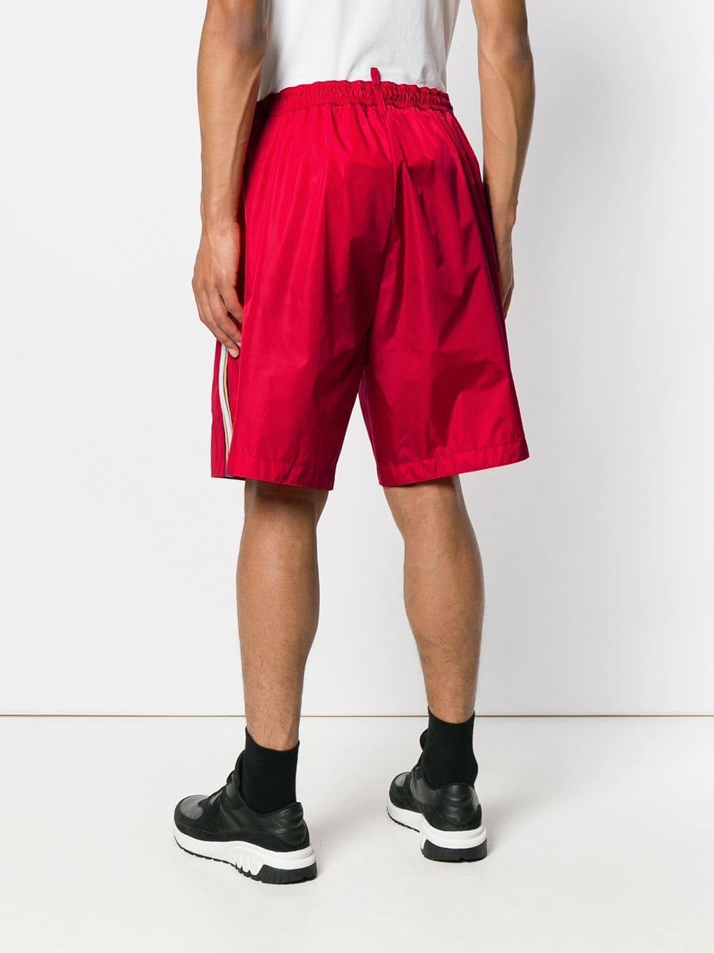 DSquared² X K-way Short in het Rood voor heren