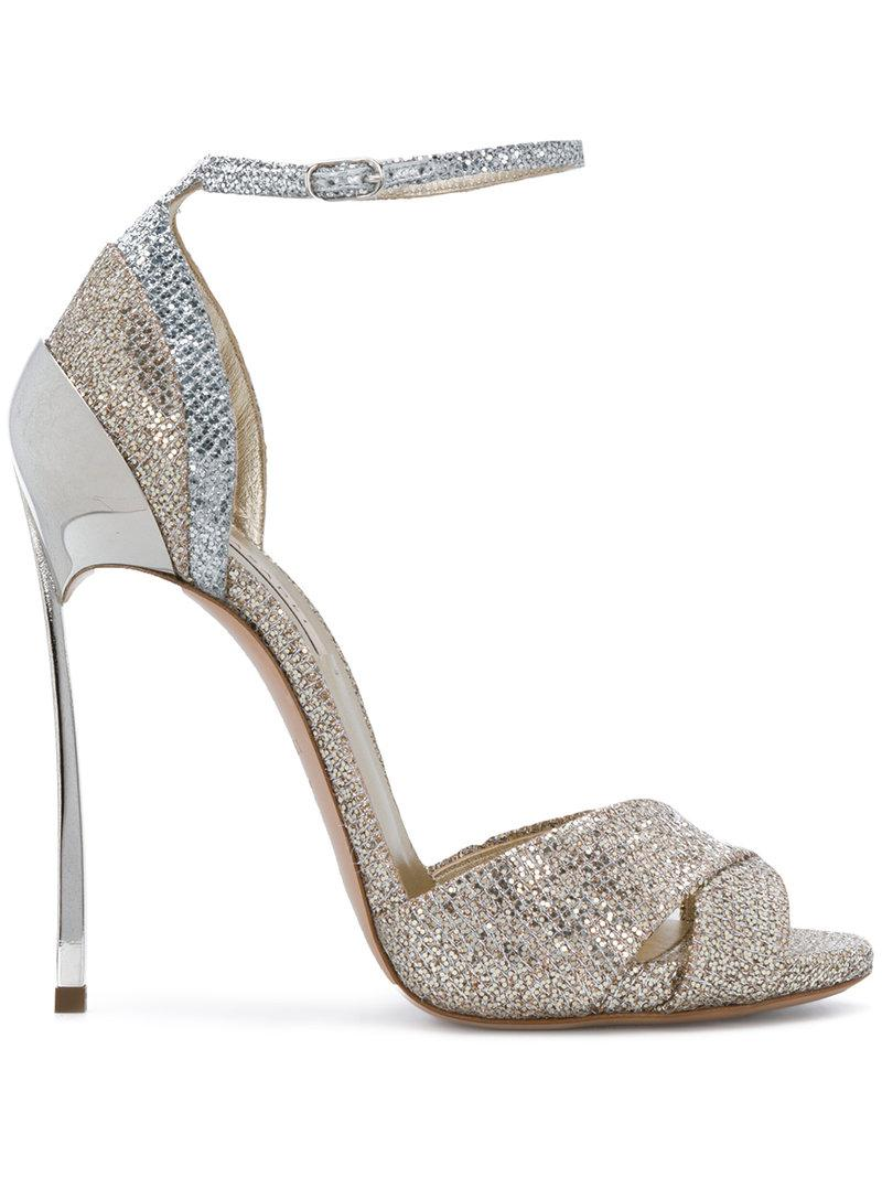 ankle strap sandals - Metallic Casadei Nicekicks Sale Online GqU40AHrc